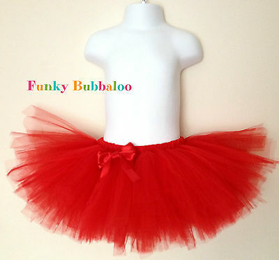 Red Baby Toddler & Girls Tutu Cake Smash Photo Prop Party Birthday Christmas