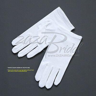 Fancy White 100% Cotton Ladies' Gloves-Various Sizes