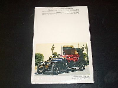 1911 Rolls-Royce Silver Ghost Ceremonial Phaeton by Barker Postcards NIP