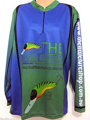 The Little Lure Shop QUICK DRY UV Long Sleeve Tournament Fishng T Shirt - XS-7XL