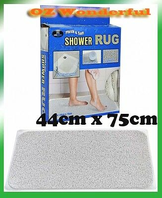 Anti-Slip Drain Away Shower Rug Non Slip Floor Carpet Bathroom Mat Shower Carpet