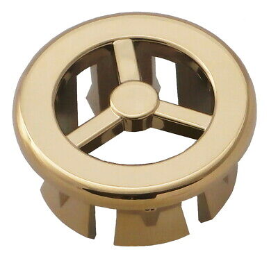 Bathroom Basin / Sink Overflow Cover Insert Gold Colour to Match your Taps goldM