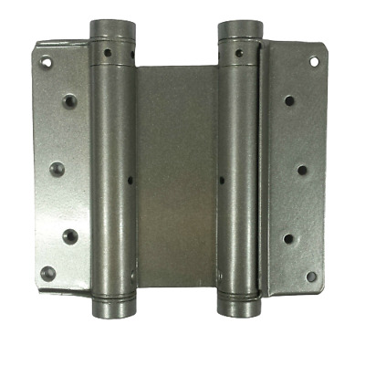 Double Action Spring Swing Door Gate Saloon Hinges Silver Sprung - Various Sizes