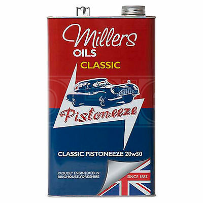 Millers Oils Classic Pistoneeze 20W-50 Mineral Engine Oil - 5 Litres 5L