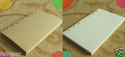 A6 50 Sheets Blank Lined 6 Hole Paper Pad Refills Inserts For Note Book Journal