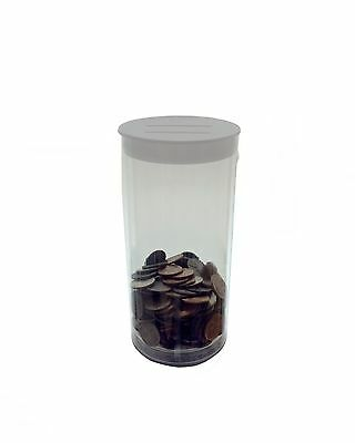6 Small Charity Donation Container Tube Box for Fund-raising