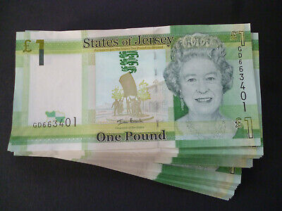 A States Of Jersey One Pound Note Uncirculated Jersey £1 Banknote Mint Condition