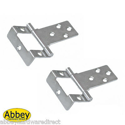 Cranked Flush Hinge 50mm Qty 1 Pair -  Brass or Zinc