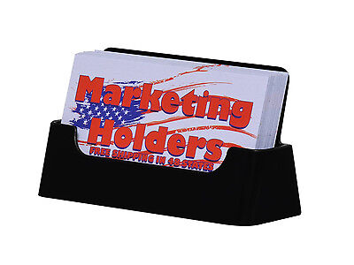 Lot of 4 Black  Business Card Holder Display Stand Top