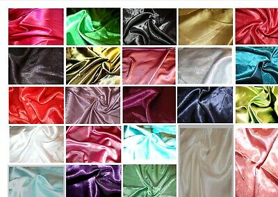 "Satin back crepe polyester dress fabric: @ £3.45/m 1.46m / 58""  wide"
