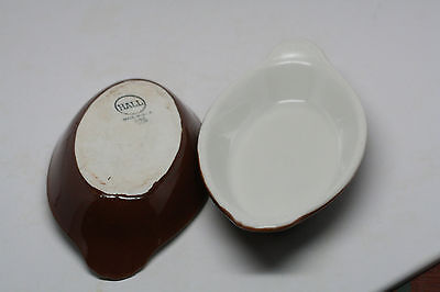 2 HALL  USA made INDIVIDUAL SERVING SIZE CASSEROLE  MARKED