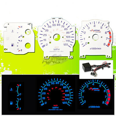 Reverse Indiglo Glow Gauge Face For 89-94 Nissan Maxima Se/gxe Dash Cluster