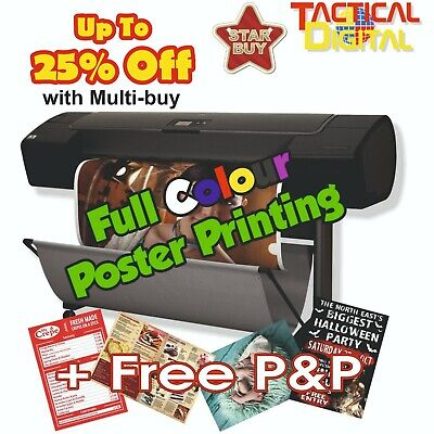High Quality Poster Printing A0, A1, A5  Buy 3 get 4th FREE - 200gsm paper