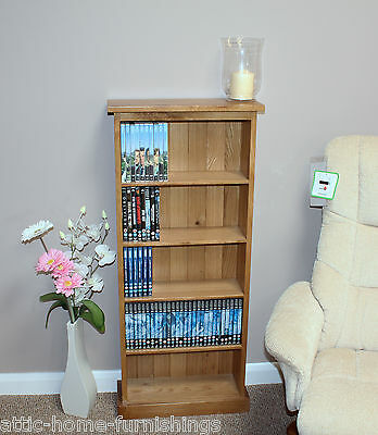 DVD Storage Tower Unit Holds 140dvd's Solid Oak Furniture
