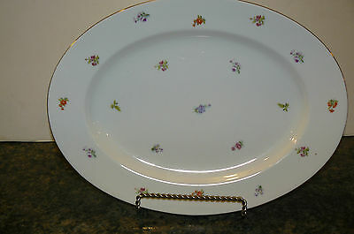 Thomas R China Large Serving Platter 14 3/4 in Floral Pattern Germany Vintage