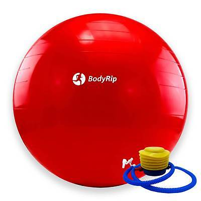BodyRip RED EXERCISE GYM YOGA SWISS 65cm BALL GYM FITNESS AB ABDOMINAL TONE