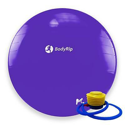 BodyRip PURPLE EXERCISE GYM YOGA SWISS 65cm BALL GYM FITNESS AB ABDOMINAL TONE