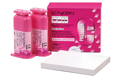 Gc Fujicem  2 Glass Ionomer Cement - Refill Automix Compatible 2 Pack