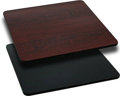 Flash Furniture 30'' Square Table Top with Black or Mahogany Reversible...