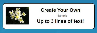 "80 Personalized ""Create Your Own"" Small Return Address Labels"