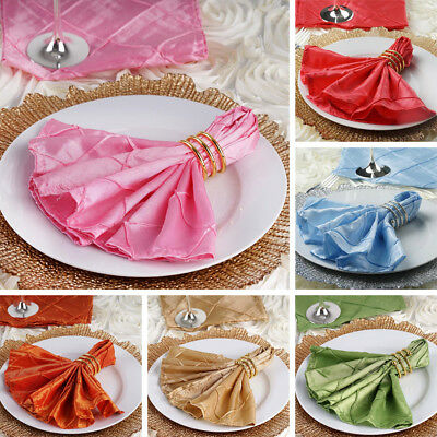 """250 pcs Pintuck 17x17"""" TABLE NAPKINS Wedding Party Catering Banquet Linens SALE"""