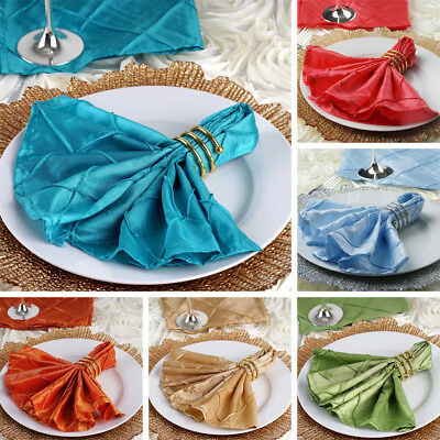 "500 pcs Pintuck 17x17"" TABLE NAPKINS Wholesale Wedding Party Catering Linens"