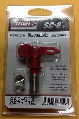 Titan 661-513 662-513 SC-6 Plus Airless Paint Spray Reversible Tip