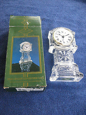Shannon Fine Crystal Small Hollow Grandfather Clock with Quartz Movement
