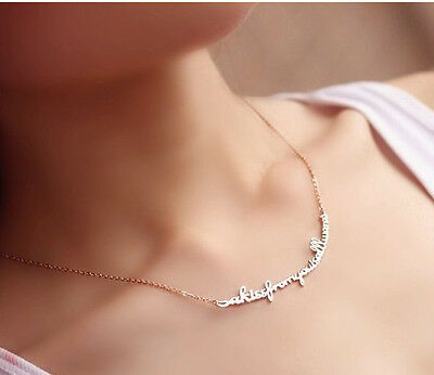New arrival Korea Design Women Necklace Words Pendent Jewel Free shipping 893