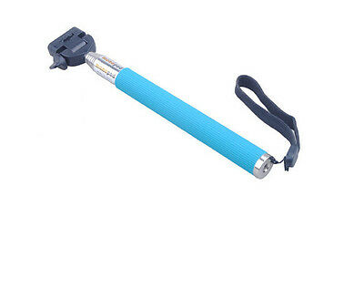 Blue  Extendable Hand Held Monopod Tripod Wand for DSLR Camera Camcorder video