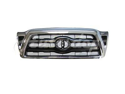 For 2005-2011 Tacoma Grille Black Insert With Chrome Frame