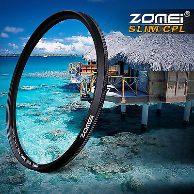 ZOMEI 62mm Ultra Slim CPL Circular Polarizing Polarizer filter for Canon Nikon
