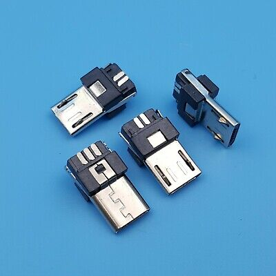 10Pcs Micro USB Type B Male 5Pin Soldering Plug Connectors