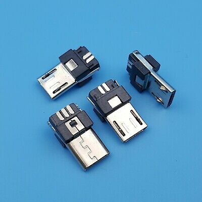 10Pcs Micro USB Type B Male 5Pin Wire Solder Plug Connector