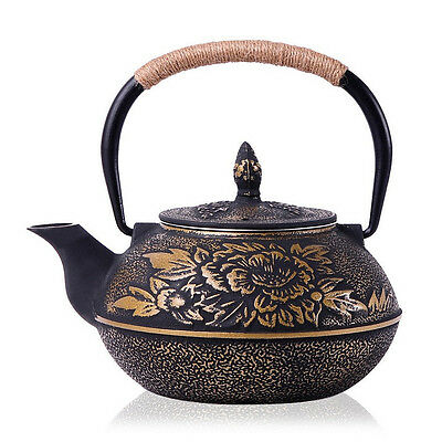Japanese Style Cast Iron Kettle Tetsubin Teapot 900ml Comes With Strainer