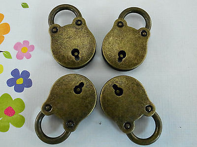 (Lot of 4 pcs) Vintage Style Mini Padlocks With Keys