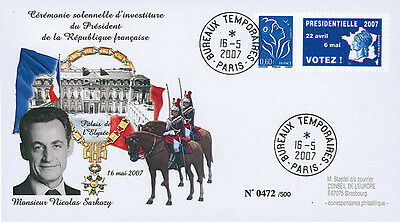 "EP07-4 FDC ""France 2007 Presidential Election - Inauguration Day SARKOZY"" 2007"