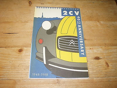 2CV 40th Anniversary Booklet 1948-1988.