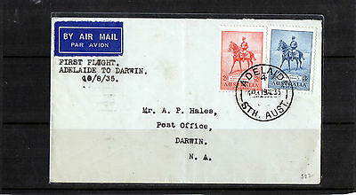 1935 First Flight Adelaide To Darwin Flight Cover, CDS 19 AU 33, Good Condition