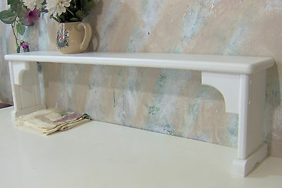 Over the sink shelf for plants extra area white solid wood pine made in the USA