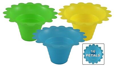 500 ct 4-8oz FLOWER CUP- Snow Cones/Shaved Ice/Ice Cream- 3 Colors FREE SHIPPING