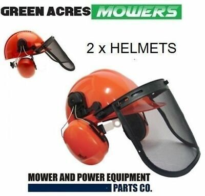 2 X New Chainsaw Chain Safety Helmet Visor & Ear Muffs For Stihl