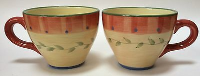 2 Pfaltzgraff Napoli Coffee Mugs Cups Wide Mouth 16 Ounce