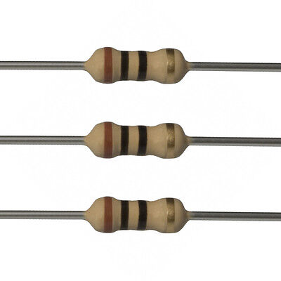 100 x 10 Ohm Carbon Film Resistors - 1/2 Watt - 5% - 10R - Fast USA Shipping