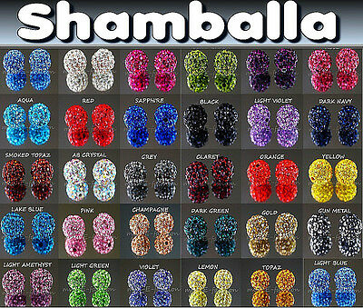 10 20 50 100 x 10mm QUALITY CRYSTAL beads shamballa craft DISCO CLAY