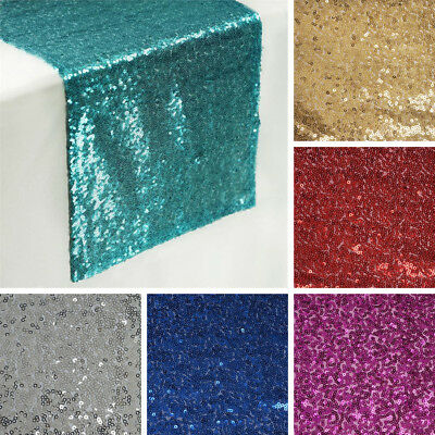 "2 Dozen SEQUIN 24 TABLE RUNNERS 12x108"" Wholesale Wedding Party Catering Linens"