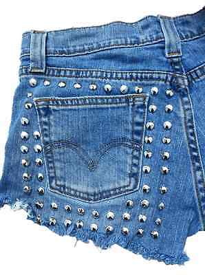 Studded And Frayed Shorts