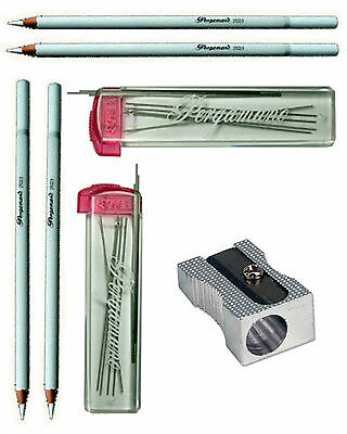 PERGAMANO WHITE PENCIL. MECHANICAL PENCIL REFILL LEADS 0.5mm for SUMOGRIP PENCIL