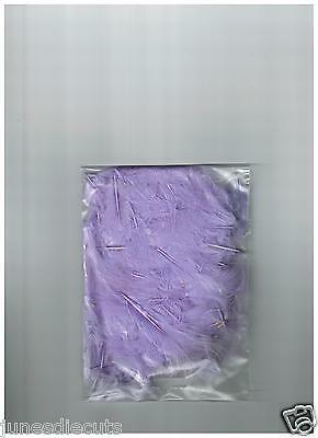 """Lilac Marabou Feathers 100 Pack Approx 1""""-4"""" Size Cardmaking /kids Craft"""