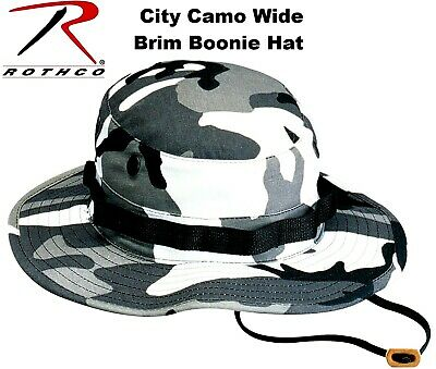 City Metro Camouflage Military Police Tactical Wide Brim Bucket Boonie Hat 5801